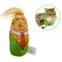 Cat Toys Stuffed Plush Corn Pet Kitten Squeaky Interactive Catnip Teaser K2Y7