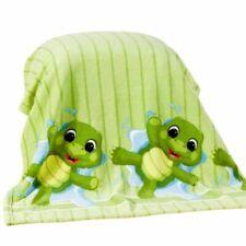 Babydecke Kuscheldecke Wagendecke 75x100 cm extra weich grün Schildkröte