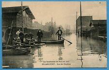 CPA: Paris- Les Inondations de Paris - Billancourt - Rue des Peupliers