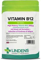 Vitamin B12 250mcg One a Day 120 Tablets High Potency for Tiredness & Fatigue