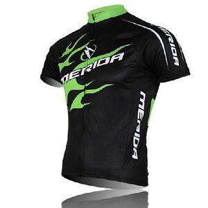 MERIDA Men's Cycling Jerseys Mountain Bike Bicycle Jersey Shirts Top Green Fire