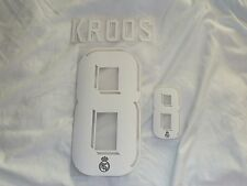 KROOS 8 Madrid AWAY Iron On Name & Number Set For Football Shirt / Jersey