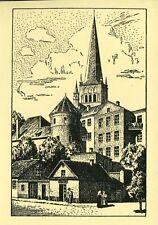 AK/postcard Otto Becker: la plage porte à Tallinn/Tallinn [Verlag Mare Balticum]