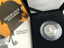Sherlock Holmes Silver Proof 50p Coin - 2019 Royal Mint boxed with COA [AD]