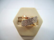 MAGNIFIQUE BAGUE JONC EN OR 18K, DIAMANTS, or 18 carats.