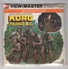 KORG 70,000 B.C. 1974 ABC TV Series GAF View-Master Packet B-557 Sealed