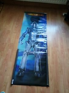 Rare Doctor who Cyberman poster, 2004,158 cms X 23 cms,brand new, Sealed
