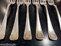 6 ANTIQUE TOWLE MANUFACTURING CO MFG 6 oz FORKS SILVER PLATED ART DECO Vintage