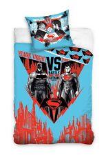 BATMAN v SUPERMAN Dark Knight Man of Steel Single Bed Duvet CoverSet 100% COTTON