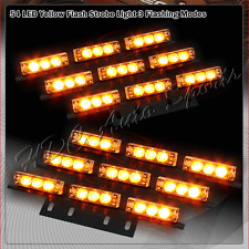 54 LED Amber & Yellow Car Truck Emergency Hazard Warning Flash Strobe Light Bar