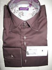 Chemise STANBRIDGE neuf 39 Medium marron, men shirt new RRP 120€, IKKS