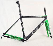 CNSTAR 54cm Full Carbon Road Frameset Fork Bike Internl Di2 BSA Matte 700C Green