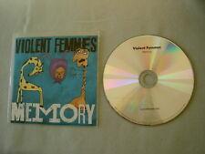 VIOLENT FEMMES Memory promo CD single