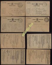 WWI Soldiers used lot of 14 x FIELD SERVICE POSTCARDS used from Trenches Etc.