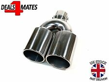 SPORT TWIN EXHAUST MUFFLER PIPE TAIL TIP CHROME FOR PEUGEOT 106 206 406 306 307