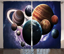 Nebula Curtains Milky Way Planets Space Window Drapes 2 Panel Set 108x90 Inches