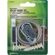 40-Hillman Anchor Wire 100# Cap Heavy-Duty Mirror Picture Hanger Kit 2/Pk 121130