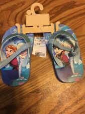 Nwt Disney Frozen Infant Toddler Girl Flip Flops Elastic Strap Sz 5-6 Beach