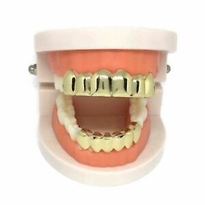 Self-Fitting Full Grills l FREE UK POST l Gold Silver Grillz Gangster Tooth Cap
