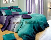 twilight luxury cotton bedding set: duvet cover set or sheet set or accessories