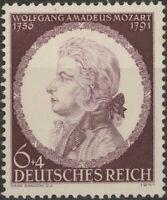 Stamp Germany Mi 810 Sc B200 1941 WWII 3rd Reich Music Amadeus Mozart Vienna MNG