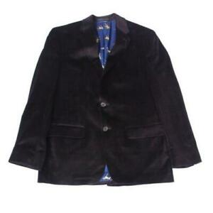 MSRP $350 Mens Blazer Velvet Two Button Purple Plaid Size 42 R/M37.5