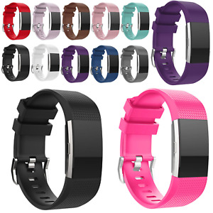 for Fitbit Charge 2 Replacement Strap Comfortable Band Buckle Wristband Sports