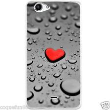 Coque Wiko Pulp 4 G + Protection Verre Trempé 9 H - Motif Love