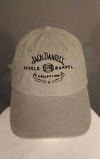 Jack Daniels Single Barrel Collection Khaki Embroidered Strapback Hat Cap