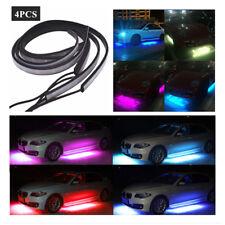 4PCS LED RGB Under Car Tube Glow Underglow Underbody System Neon Strip Light Kit