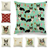 "18"" Dog Corgi Pillow Case Cotton Linen Throw Cushion Cover Sofa Home Decoration"