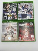 Game Lot Of NBA2K16 Live 15,  Madden 25 17 Xbox One Games