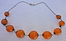 VINTAGE NATURAL BALTIC AMBER NECKLACE SILVER 875 CHAIN USSR SOVIET RUSSIA