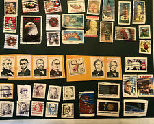 Small Collection of USED USA stamps from 1990s or older. Space, Love, Flags