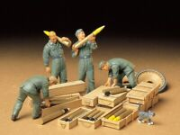 35188 Tamiya German Tank Ammo-Loading Crew 1/35th Plastic Kit 1/35 Military
