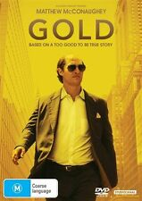 Gold -  MATTHEW McCONAUGHEY - BASED ON A TRUE STORY (DVD, 2017) - PAL R4 NEW