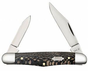 Case xx Half Whittler Knife Black Sycamore Wood 25571 Stainless Pocket Knives