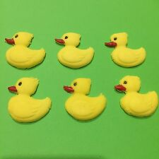 Edible Sugar Ducks Cake, Cupcake  Decorating Topper X 6