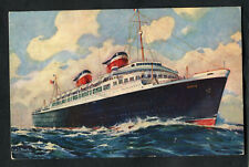 C1960s View: Cruise Liner S.S. America (United States Lines)