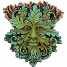 More details for green man of the forest wall plaque oak king wood spirit pagan wiccan