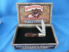 Winchester Collector's Edition Checkered Bone Barlow Knife WN29120C