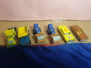Collectable matchbox yatming corgi & zylmex used some suit refurbish parts x6