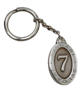 Bulgari Sterling Silver Lucky 7 Keychain