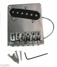Chrome Telecaster(tm)-style Bridge Plate with Pre-installed Single-Coil Pickup