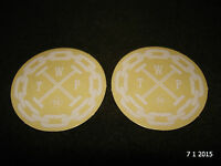 2 AUTHENTIC SMALL ROUND WETHEPEOPLE BMX WHITE STICKERS #65 DECALS AUFKLEBER