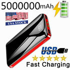 5000000mAh 2 USB Backup External Battery Power Bank Pack Charger for Cell Phone
