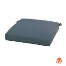 CushionGuard Chili Square Outdoor Seat Cushion by Hampton Bay- gray/blue