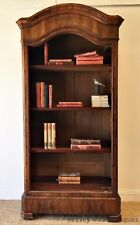 French Antique Bookcase Bookshelves Domed Top Secret Drawer Mahogany - OK082