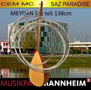 MEYDAN LANGHALS Cem MC Saz Teli 7 Saiten + bei Abholung Baglama Funktionscheck