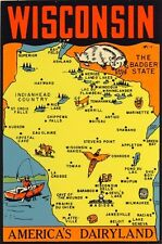 Vintage Travel Decal Replica Window Cling - Wisconsin